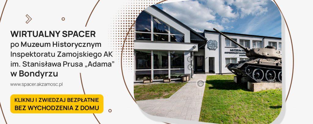 spacer ak baner 1024x408 1 Wirtualny spacer po Muzeum Historycznym Inspektoratu Zamojskiego AK w Bondyrzu.