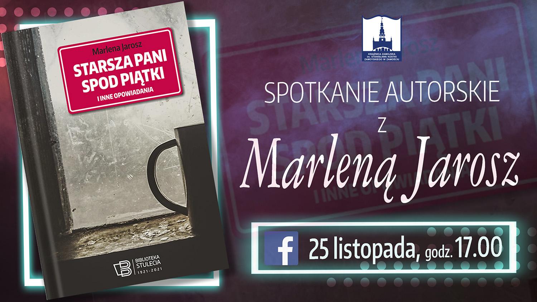 spotkanie autorskie z m jarosz plakat Książnica zaprasza na pogaduchy o starszej pani spod piątki