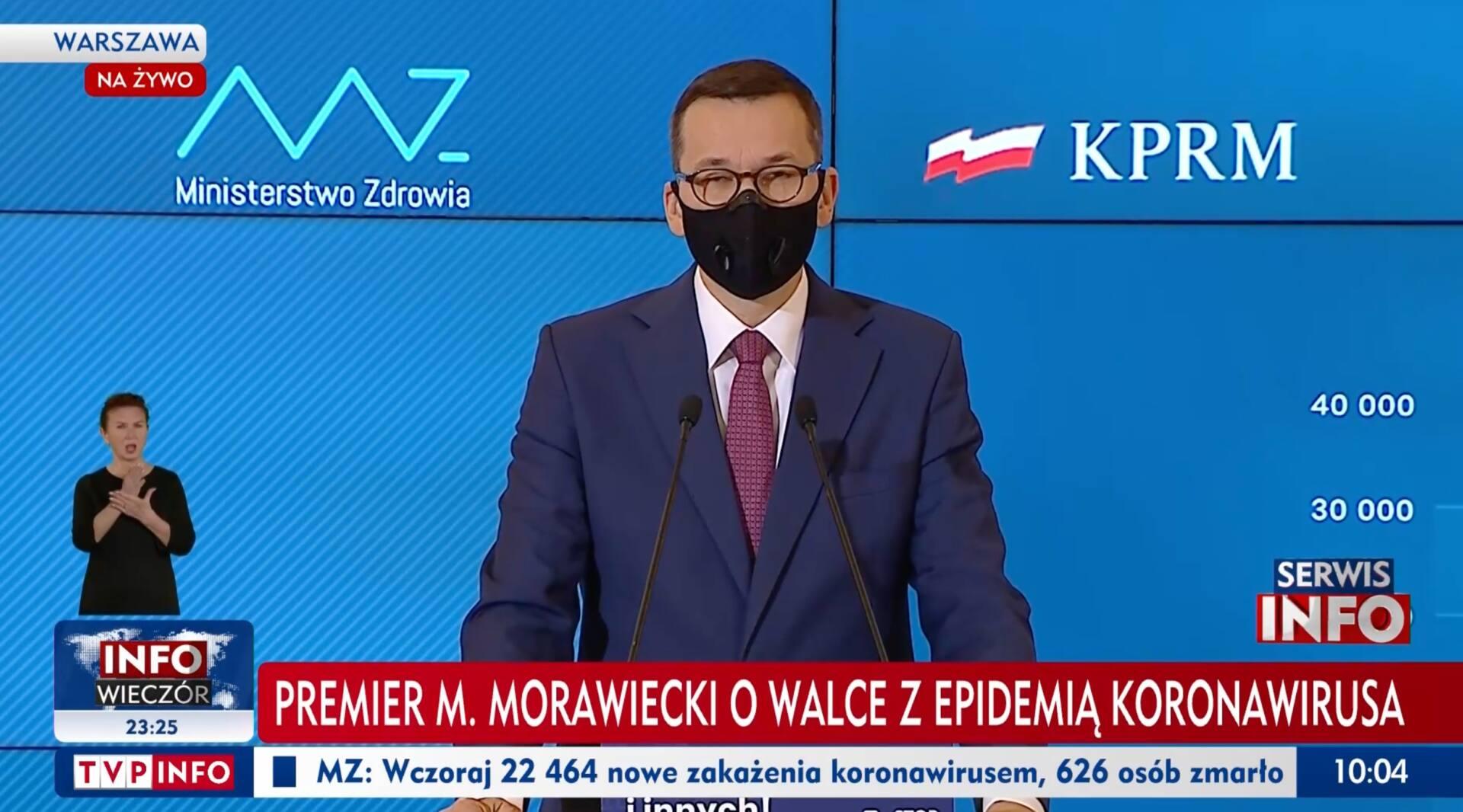 zrzut ekranu 2020 11 21 o 10 05 13 Morawiecki: Otwarcie placówek handlowych