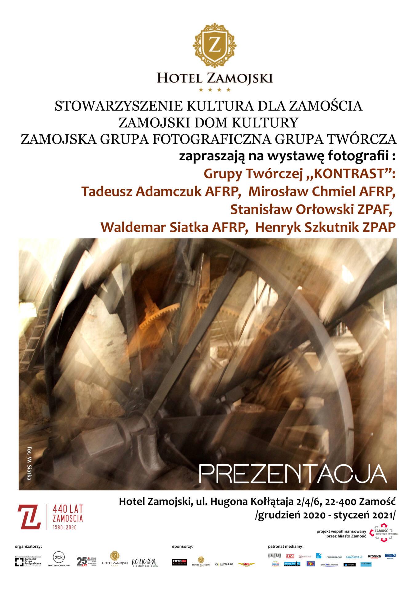 """plakat kontrast """"Prezentacja"""" - pierwsza wystawa Grupy Twórczej KONTRAST"""