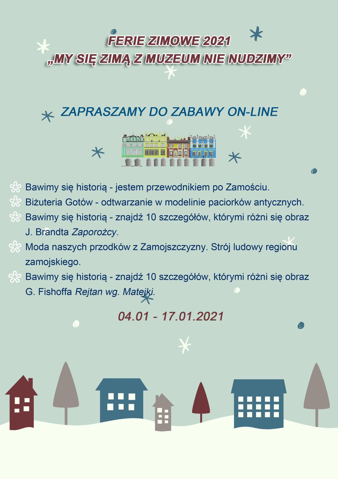 135774206 228802015493150 2279902253442924250 o ZAMOŚĆ: Ferie z Muzeum. Nie będzie czasu na nudę.