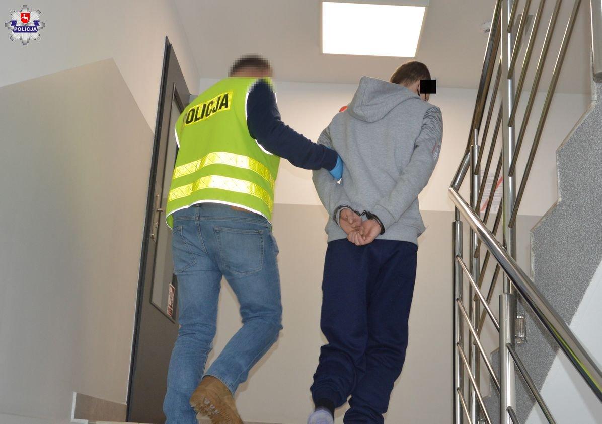 68 180419 Ledwo wyszedł z więzienia i już napadł na kobietę.
