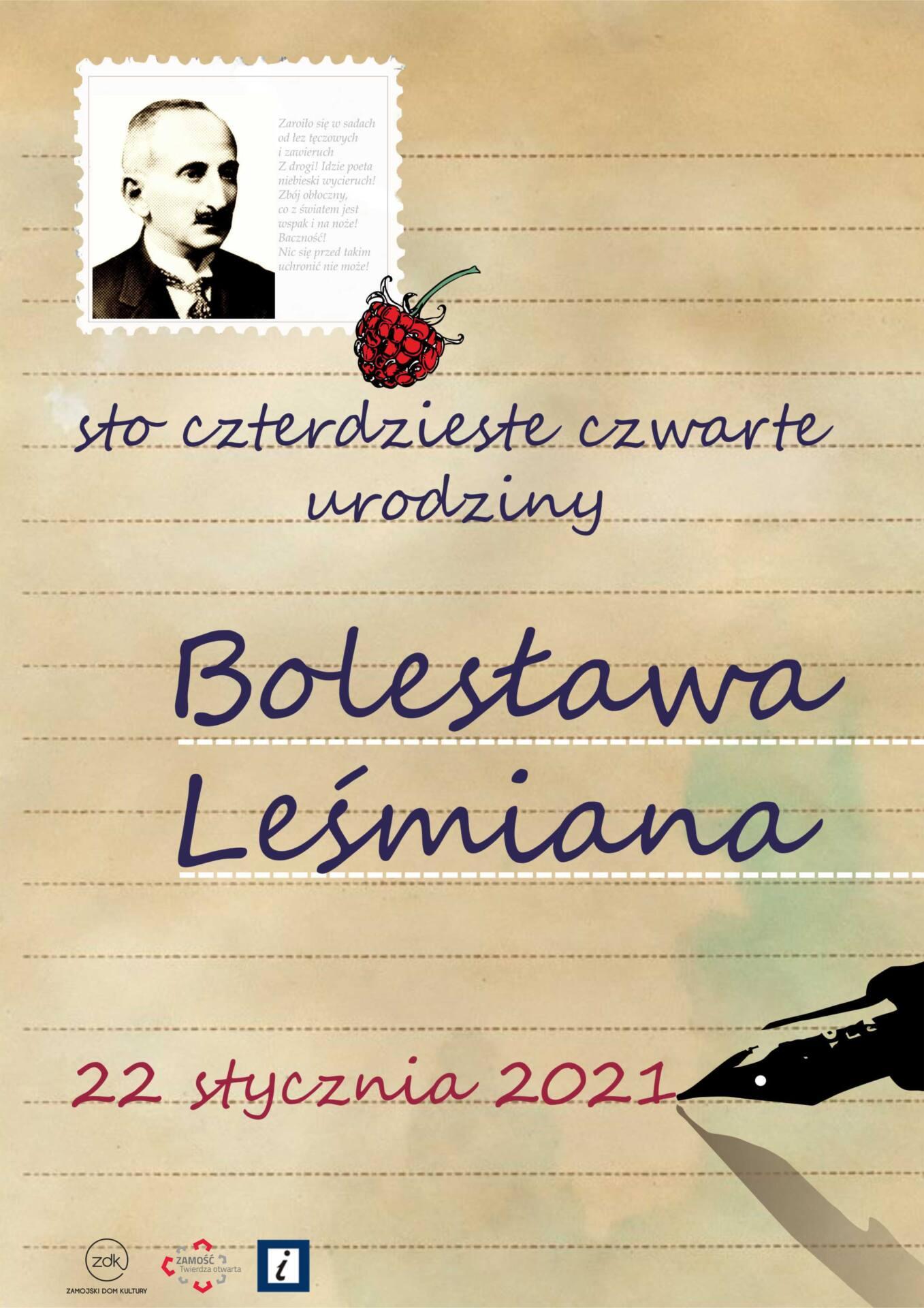 lesmian plakat Zamość będzie świętował 144. urodziny Leśmiana. W programie sporo atrakcji.