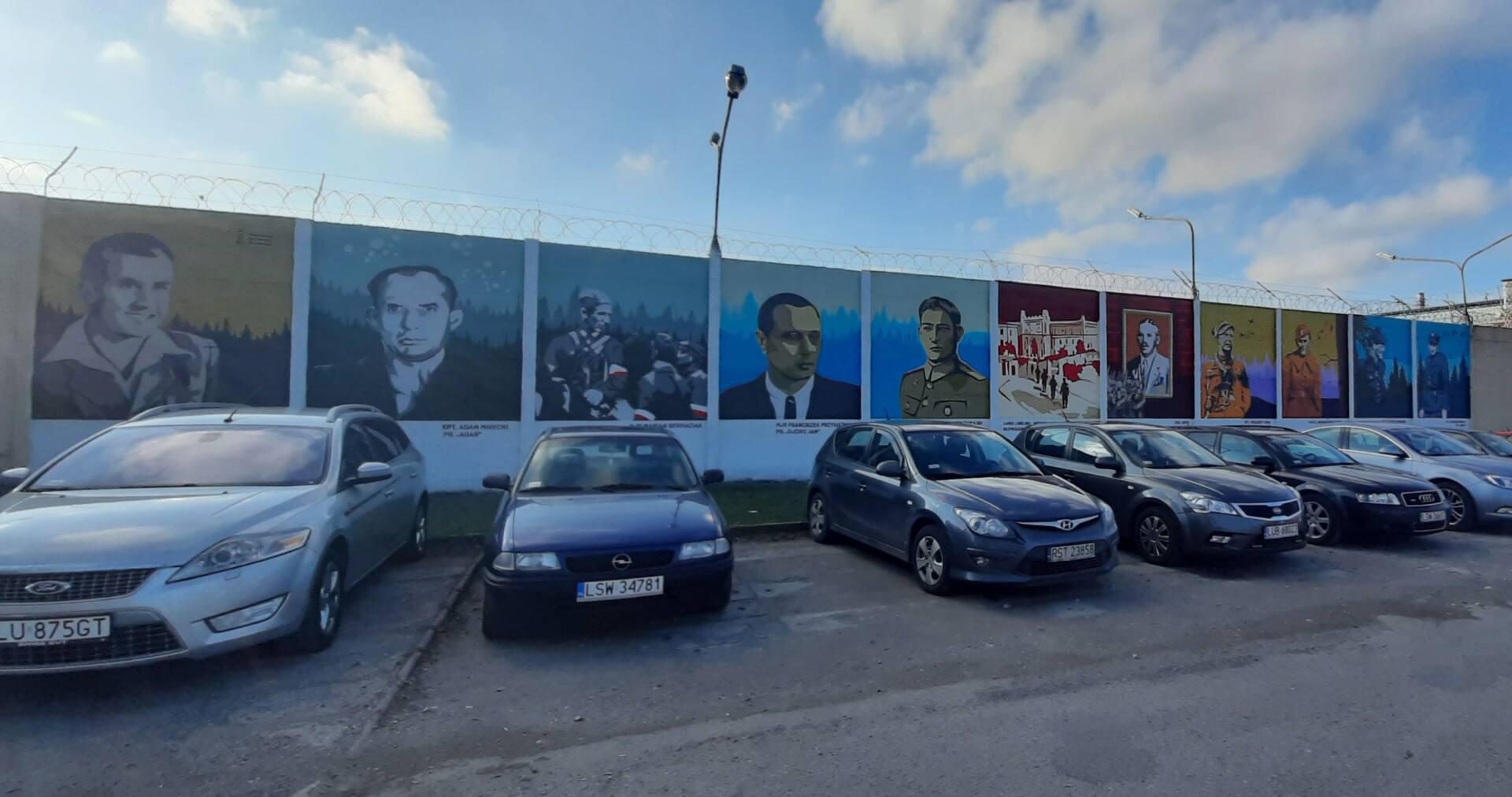 lublin 1 Na Lubelszczyźnie powstały 3 murale ku czci Żołnierzy Wyklętych. Jeden z nich w Zamościu