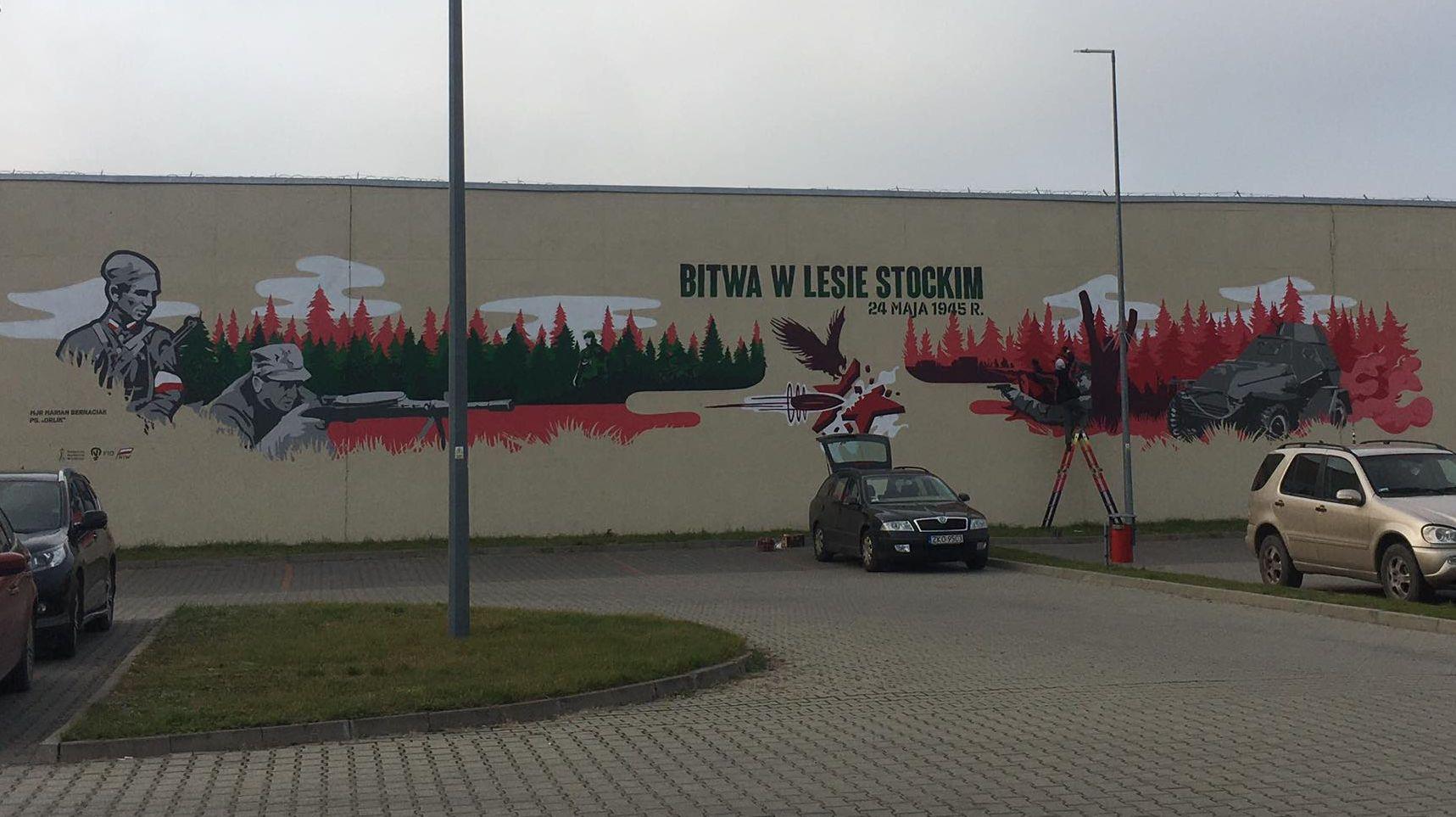 opole lubelskie Na Lubelszczyźnie powstały 3 murale ku czci Żołnierzy Wyklętych. Jeden z nich w Zamościu