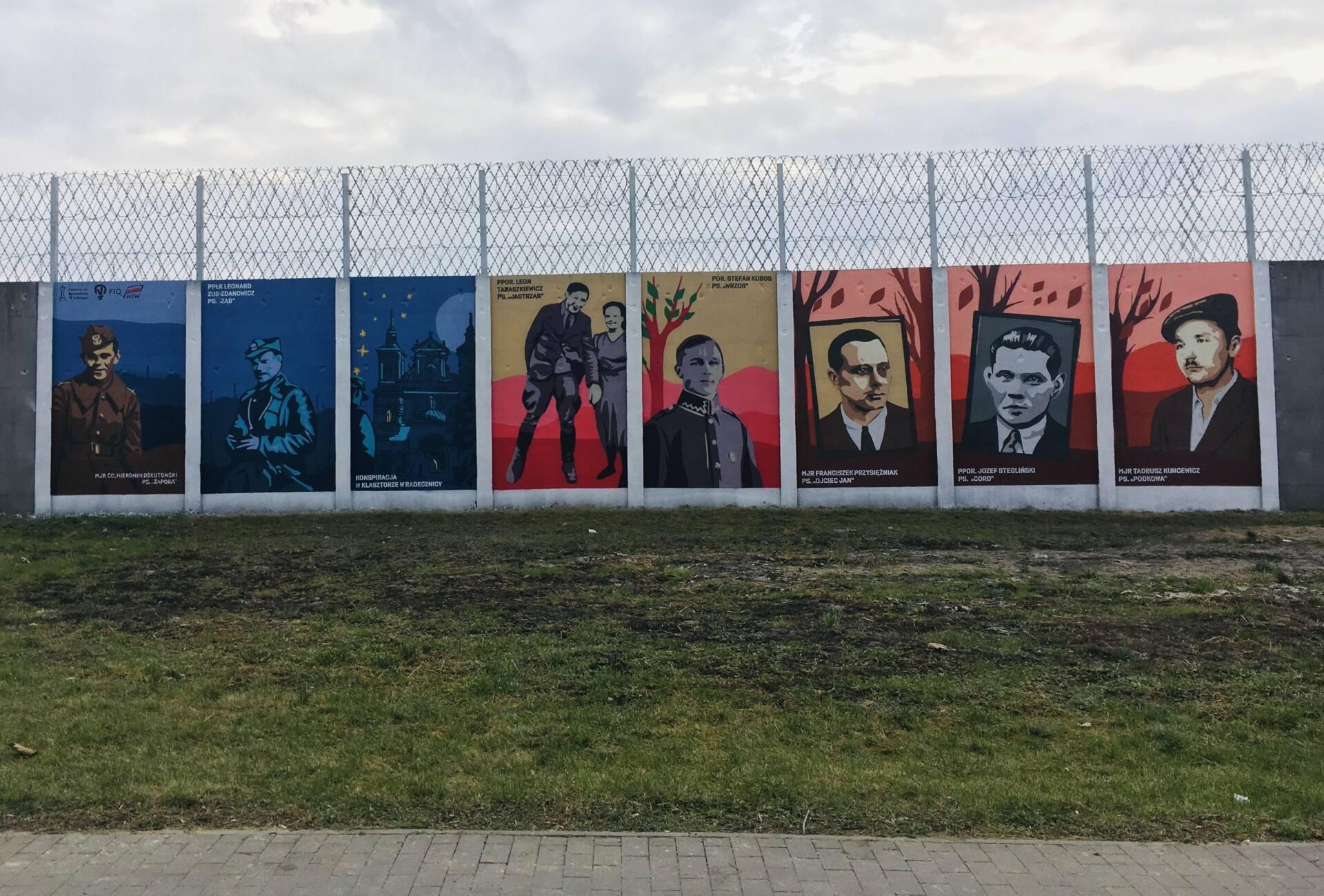 zamosc Na Lubelszczyźnie powstały 3 murale ku czci Żołnierzy Wyklętych. Jeden z nich w Zamościu
