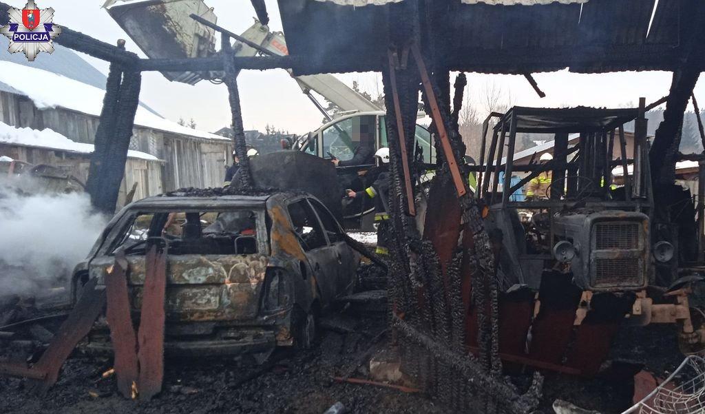 361 180871 Spłonął dom i garaż. Dwa pożary na terenie powiatu zamojskiego