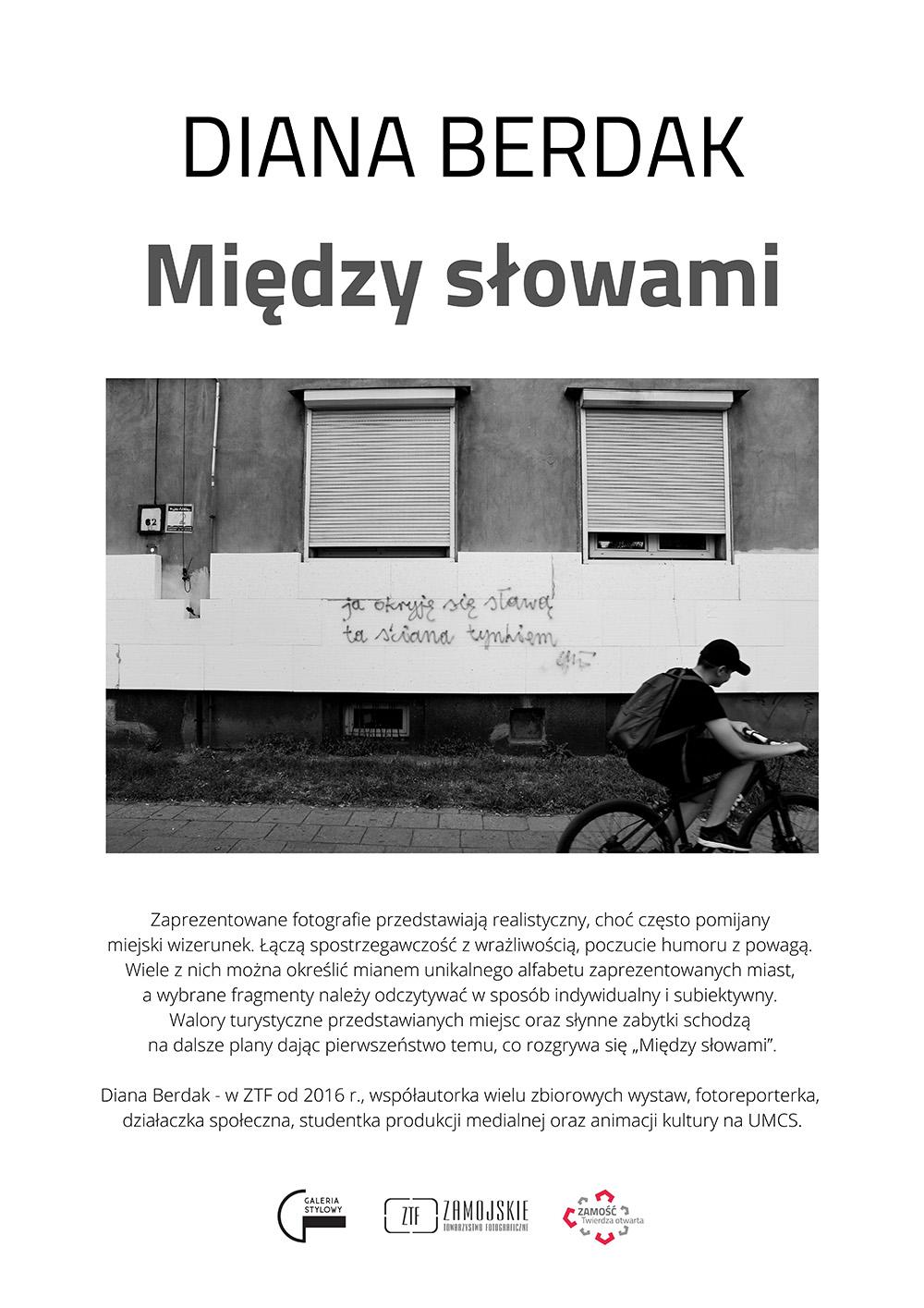 plakat diana do kina Finisaż wystawy fotografii Diany Berdak pt.