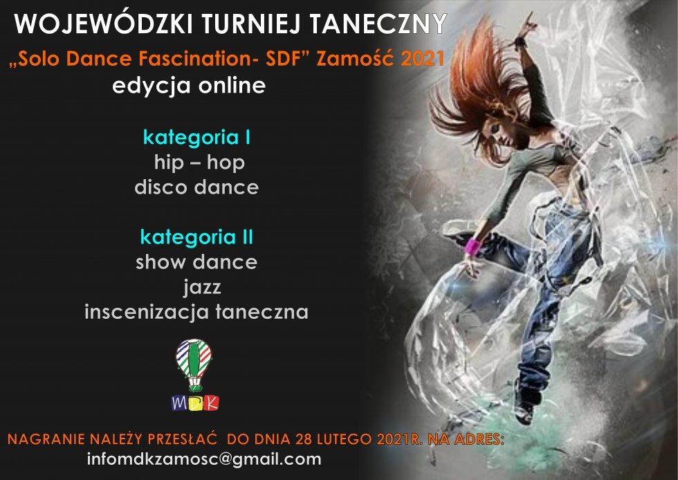 plakat MDK Zamość zaprasza do udziału w Turnieju Tanecznym