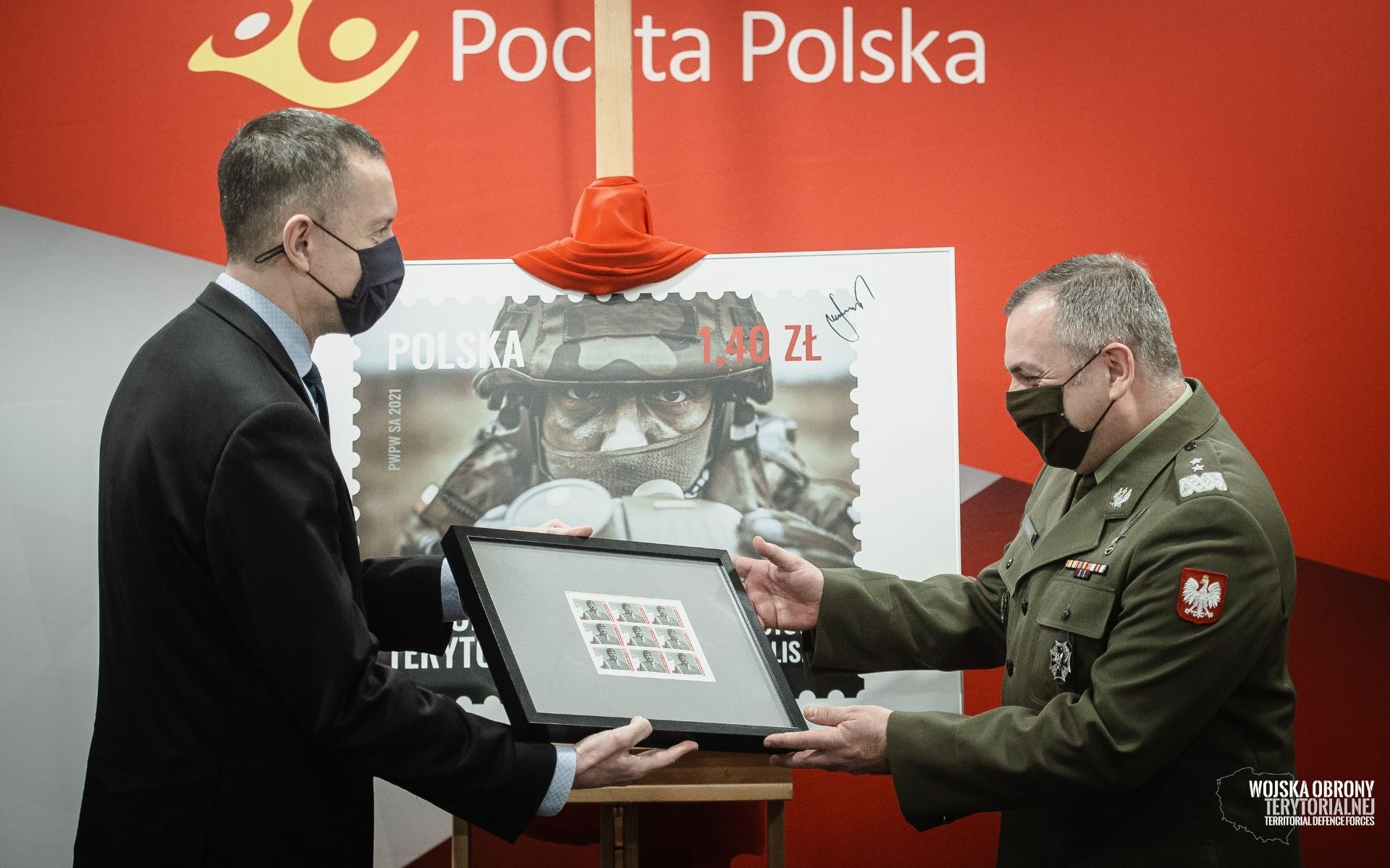 prezentacja znaczka wot 1 Terytorialsi na znaczkach Poczty Polskiej