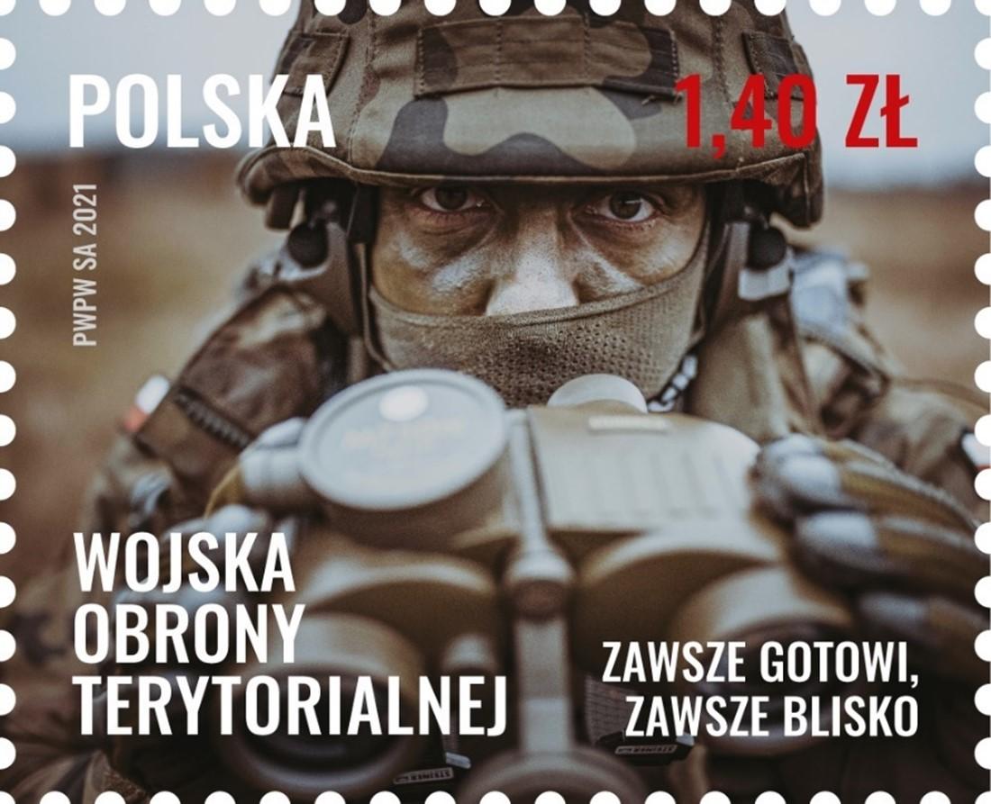 prezentacja znaczka wot 3 Terytorialsi na znaczkach Poczty Polskiej