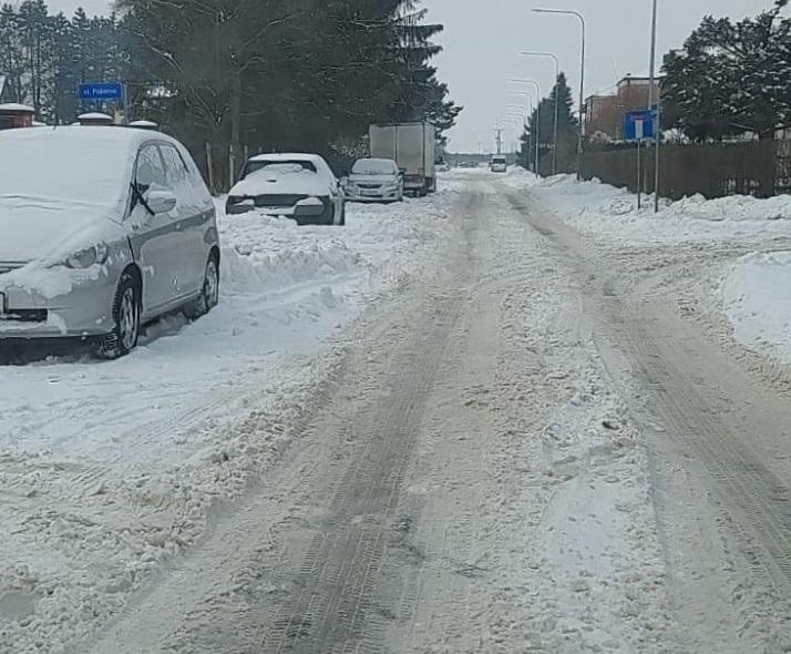 snieg samochody ZAMOŚĆ: Apel do kierowców