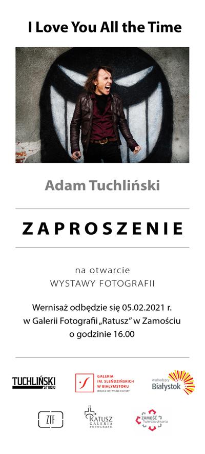 """tuchlinski zapro web """"I Love You All the Time"""" wernisaż wystawy fotografii Adama Tuchlińskiego"""