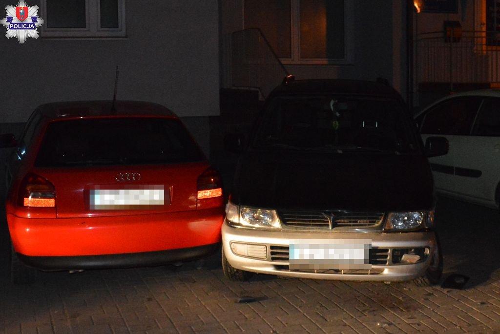 361 182261 Wyszyńskiego: 3 uszkodzone auta czyli parkowanie 31-latki (zdjęcia)