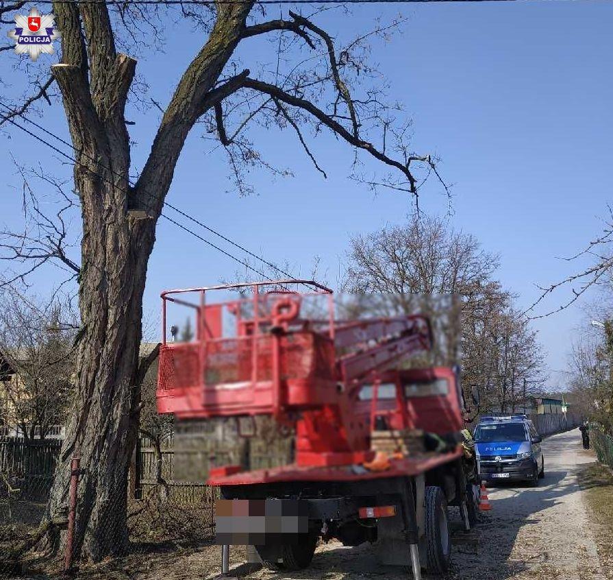 68 182959 Nieszczęśliwy wypadek podczas przycinania drzew
