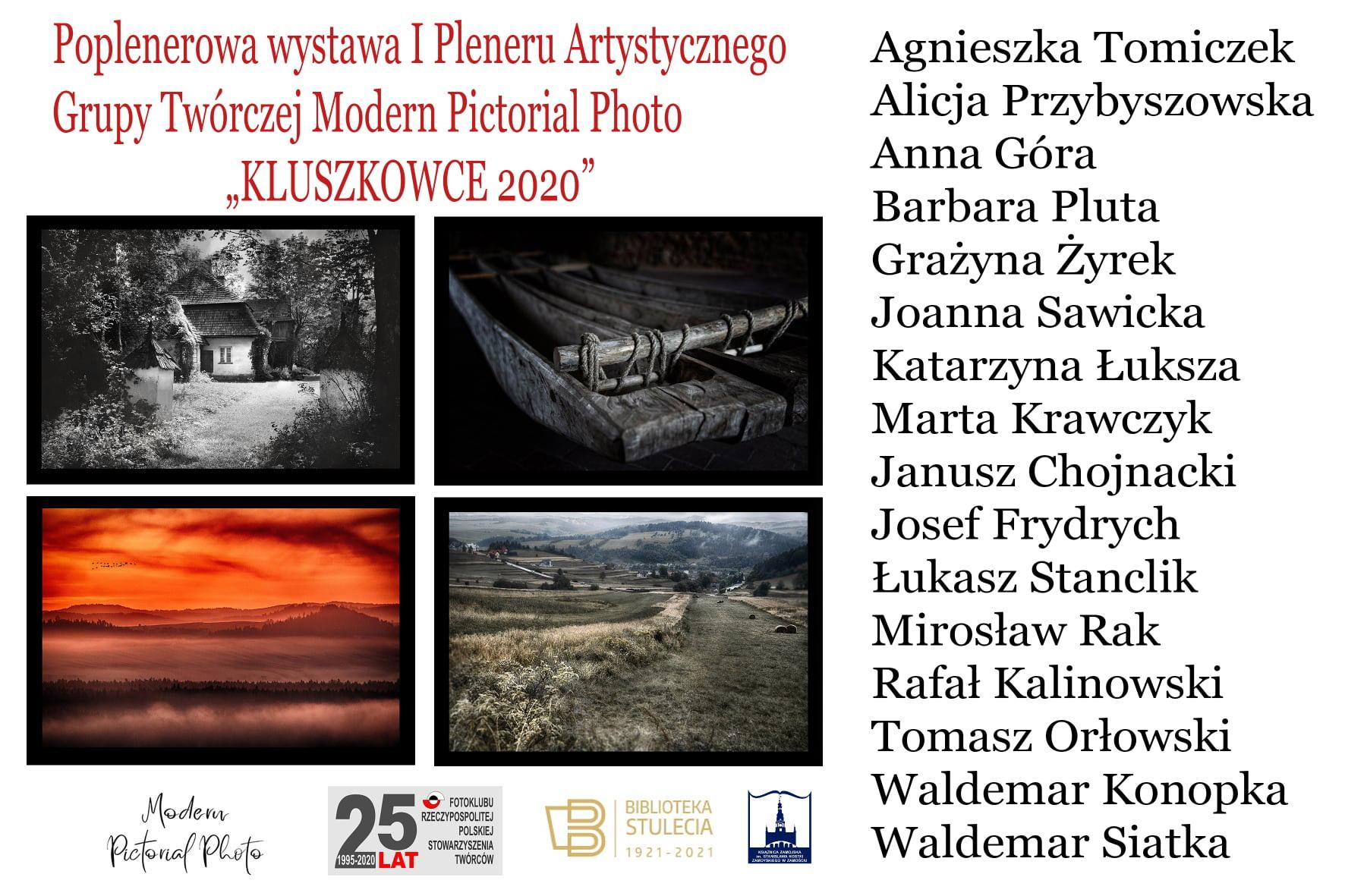 """plakatwsiatka Wystawa fotografii I Pleneru Artystycznego """"Kluszkowce 2020"""""""