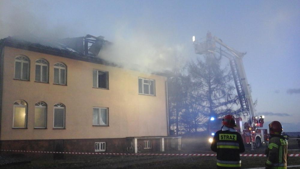 staw1 Pożar budynku mieszkalnego