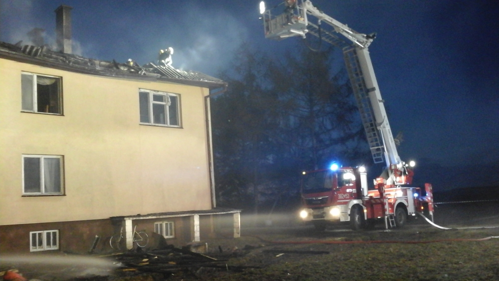 staw3 Pożar budynku mieszkalnego