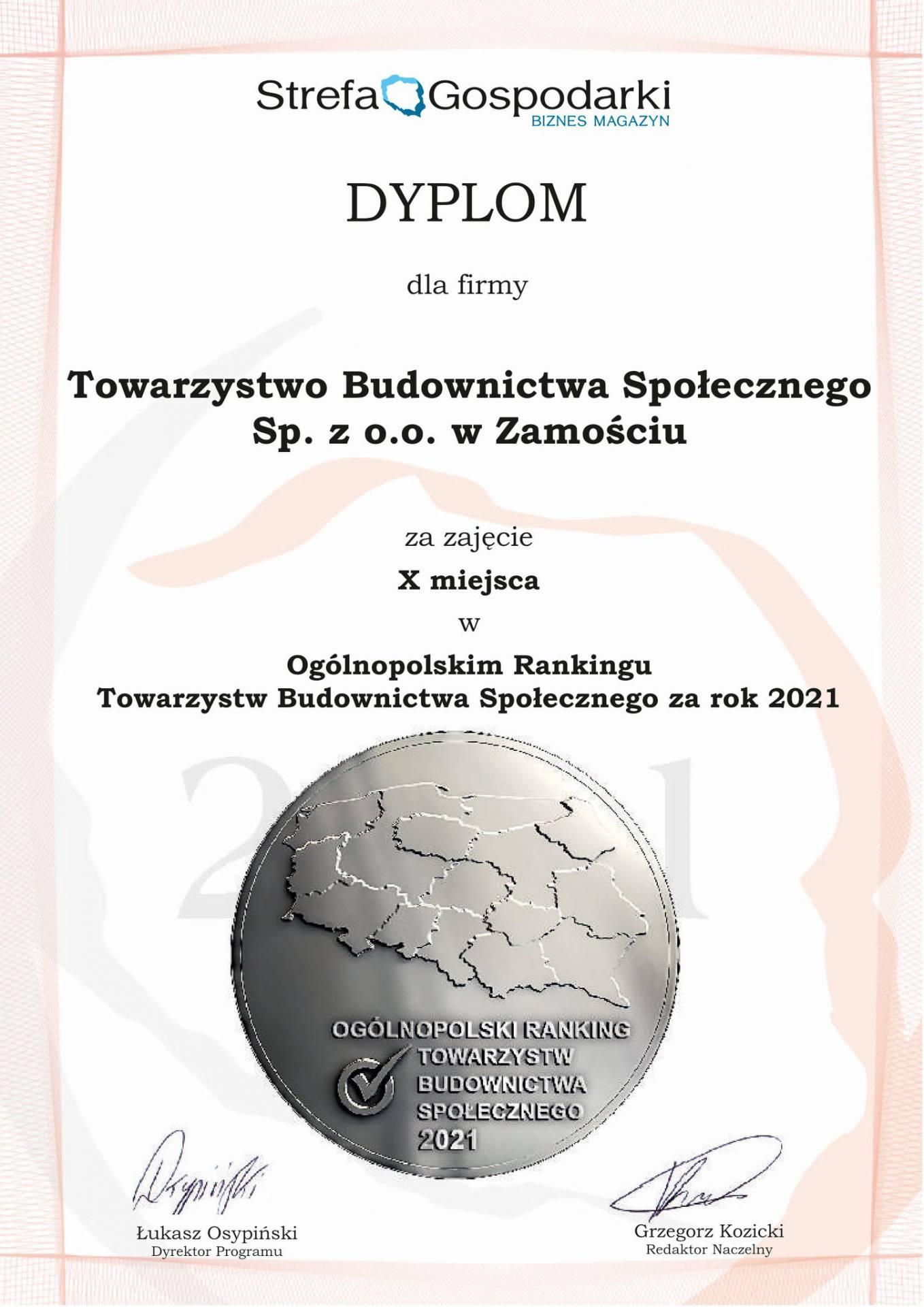 179830736 307018154338202 7271781031202690925 n Zamojski TBS wśród najlepszych w Polsce!
