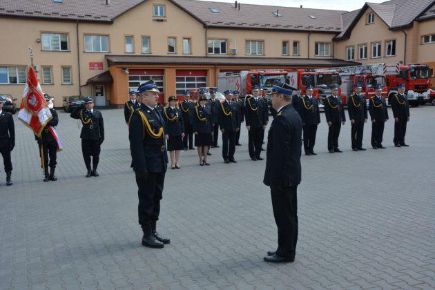21ds0 Dzień strażaka w Zamościu. Awanse i odznaczenia (zdjęcia)