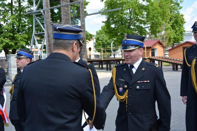 21ds16 Dzień strażaka w Zamościu. Awanse i odznaczenia (zdjęcia)