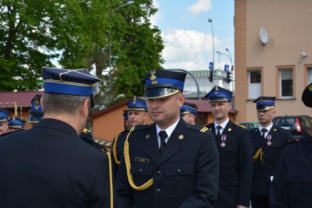 21ds20 Dzień strażaka w Zamościu. Awanse i odznaczenia (zdjęcia)