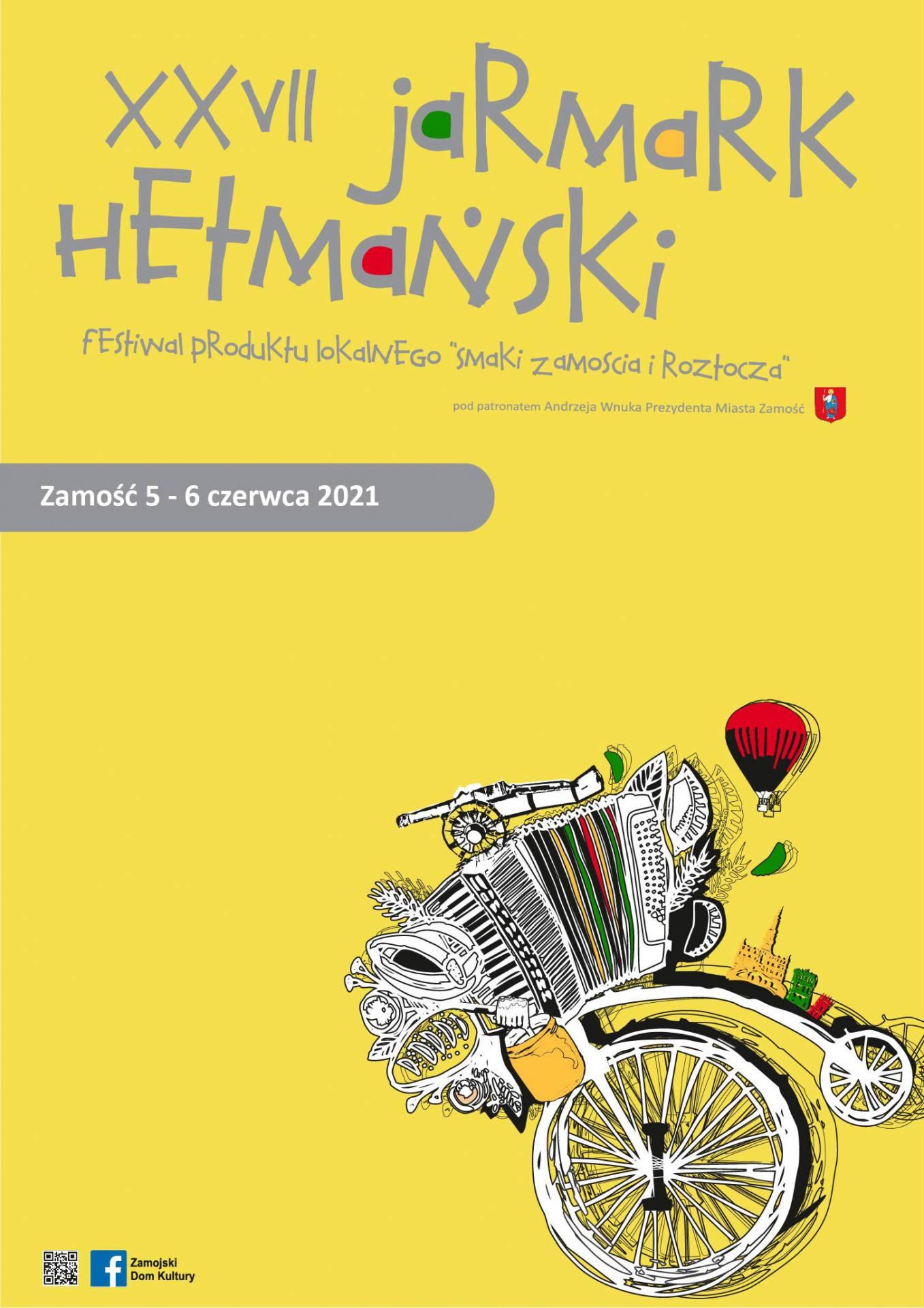 27jarmark afisz projekt Zbliża się Jarmark Hetmański. Ostatni moment na zgłoszenia dla wystawców i uczestników konkursu kulinarnego