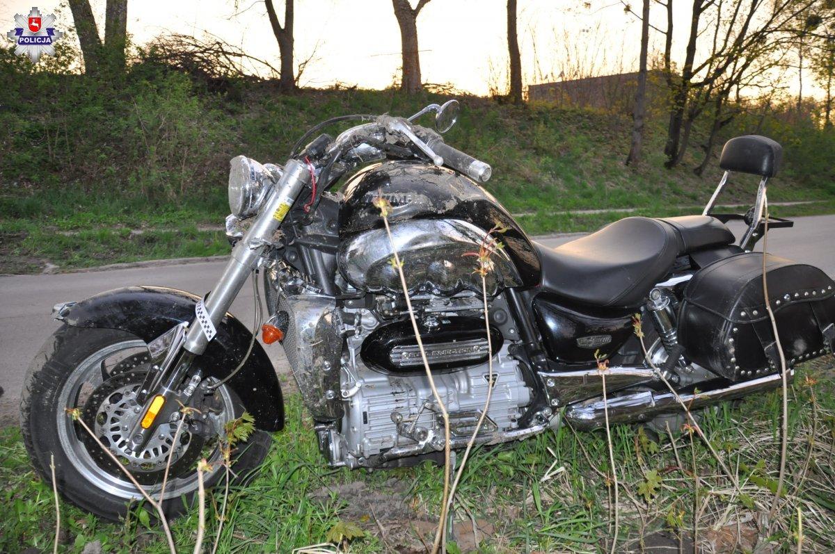68 184393 2 Wypadek motocyklisty
