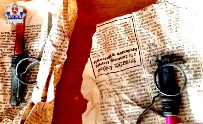 68 184781 71-latka sprzątała mieszkanie. Znalazła granaty i amunicję.