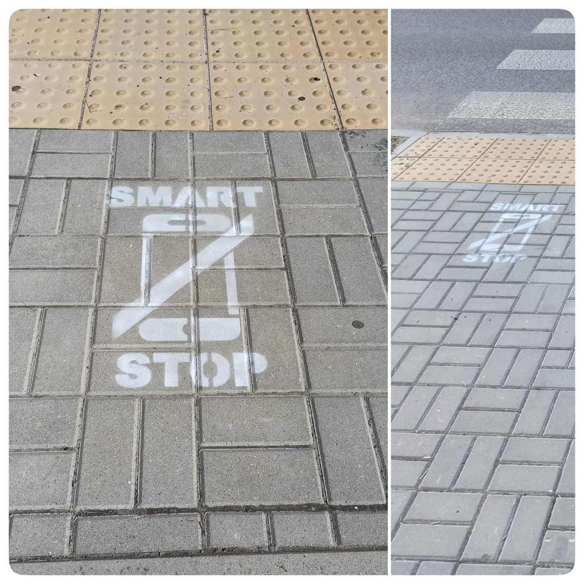 piktogramy przejscia Uwaga! Zakaz używania telefonu podczas wchodzenia na jezdnie - nowe oznaczenia przed przejściami