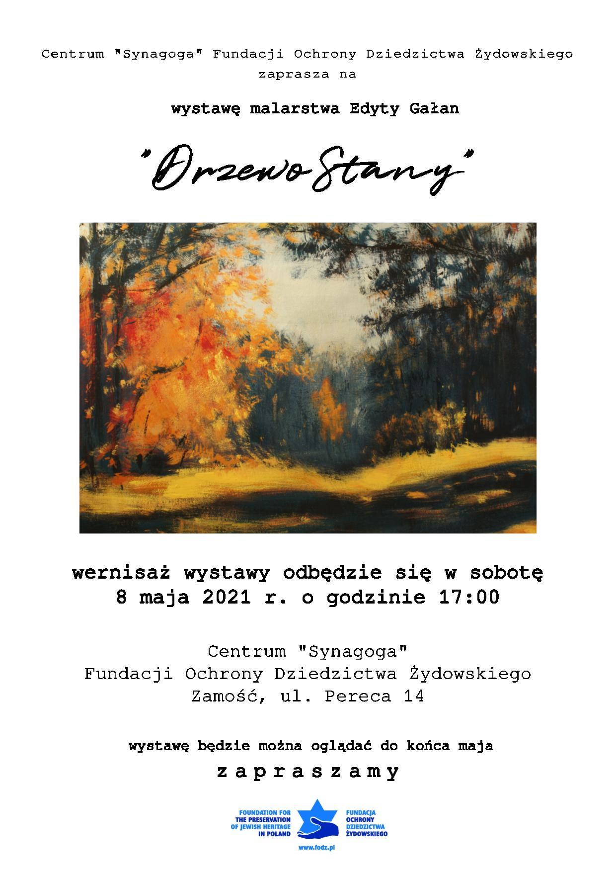 plakat drzewostany DrzewoStany - wystawa malarstwa Edyty Gałan