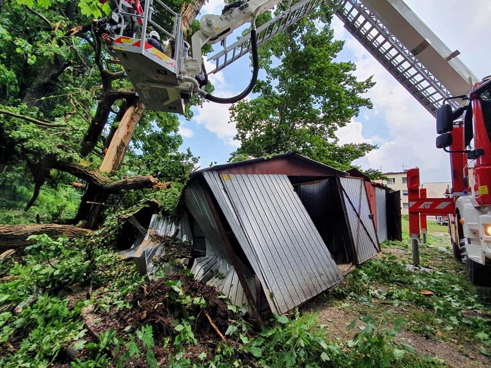 206356675 4361710100547490 106790476237221611 n Gwałtowne burze w Zamościu i regionie. 88 interwencji strażaków