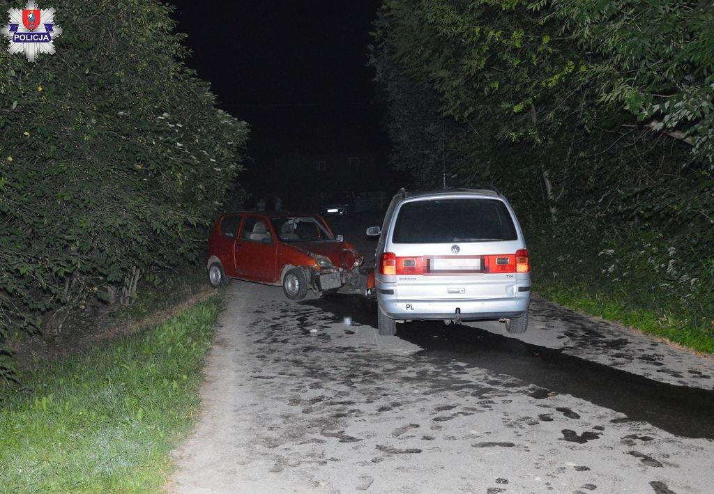 361 186235 Zderzenie fiata z volkswagenem