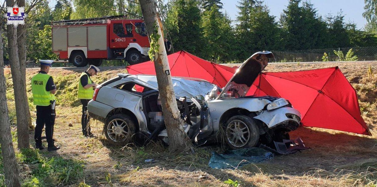 68 185706 Tragiczny wypadek. Kierowca zginął na miejscu