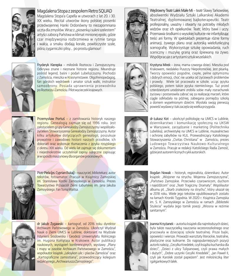 program ludzie 1 11. Zamojski Festiwal Książki na Rynku Wodnym [PROGRAM]
