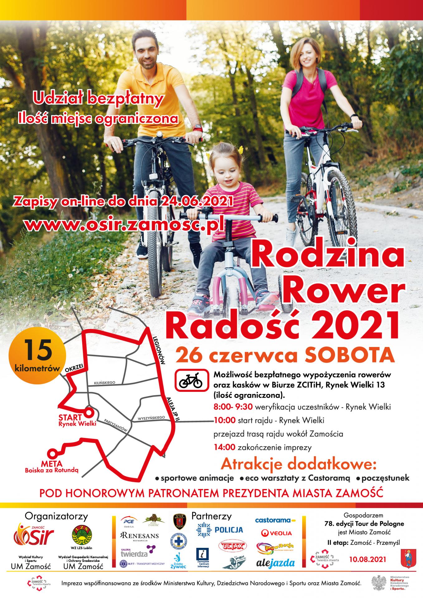 rajd rowerowy rodzina rower radosc OSiR zaprasza na rodzinny wypad rowerowy