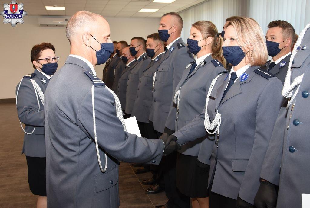 361 188523 Obchody Święta Policji w Zamościu czyli czas awansów i wyróżnień