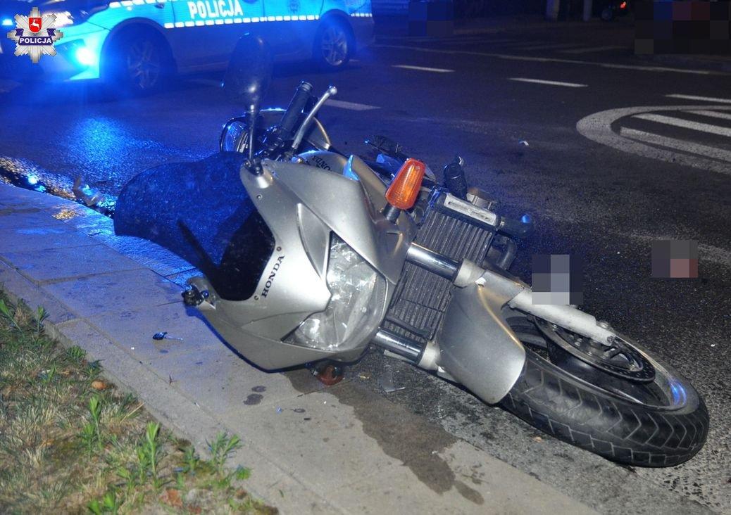 68 187630 Motocyklista potrącił dziecko przechodzące przez przejście