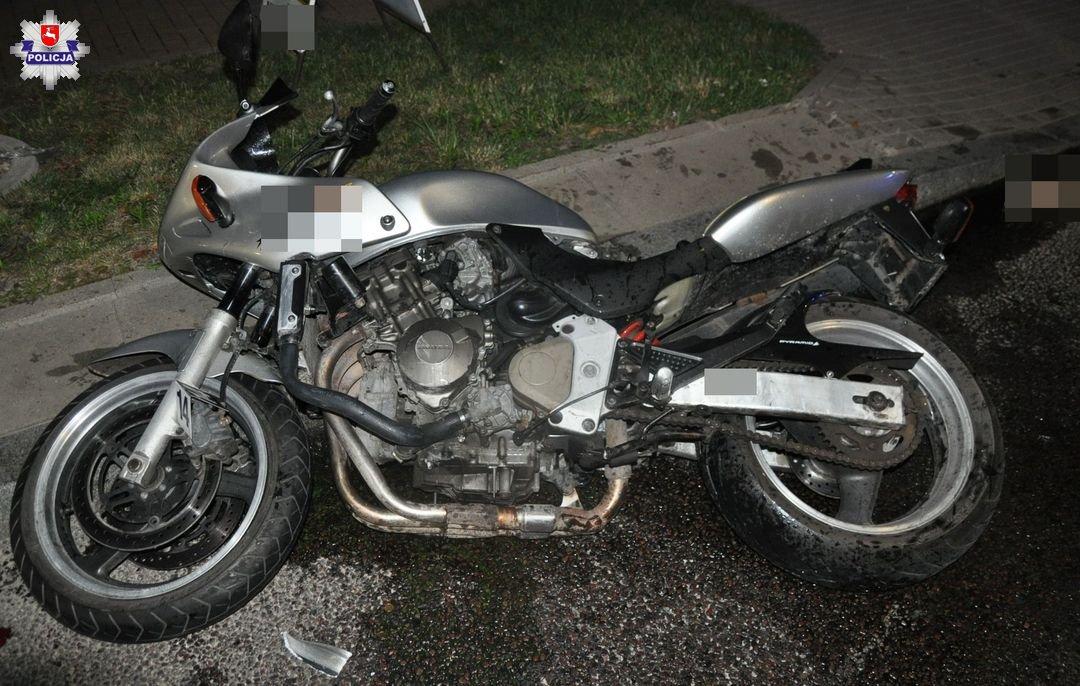 68 187631 Motocyklista potrącił dziecko przechodzące przez przejście