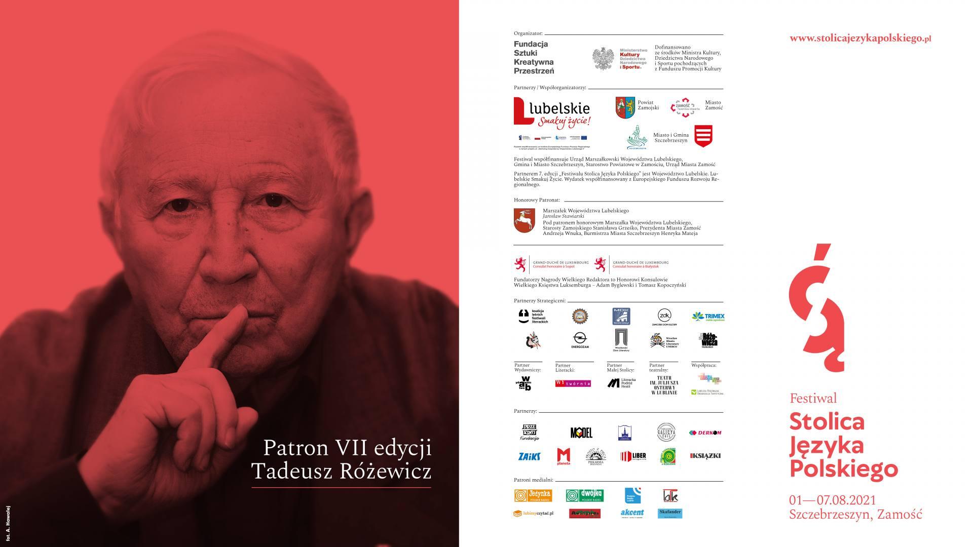 fsjp 2021 plakat w poziomie Wnuczka Tadeusza Różewicza na festiwalu - Publikujemy szczegółowy program