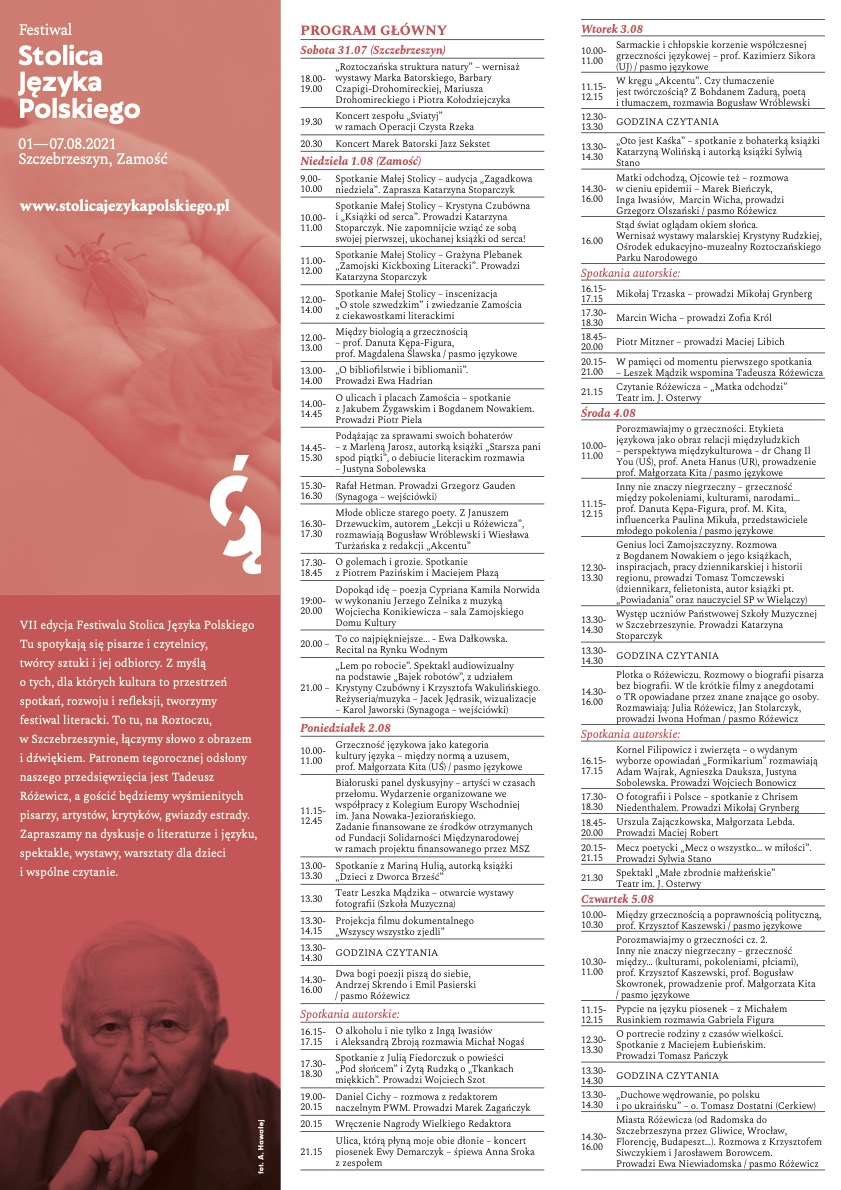 fsjp program 2021 Wnuczka Tadeusza Różewicza na festiwalu - Publikujemy szczegółowy program