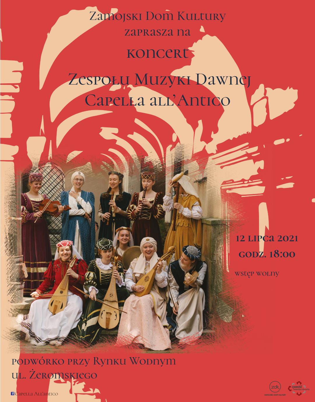 insta post capella ZAMOŚĆ: Klimatyczny, kameralny koncert Capelli all'Antico