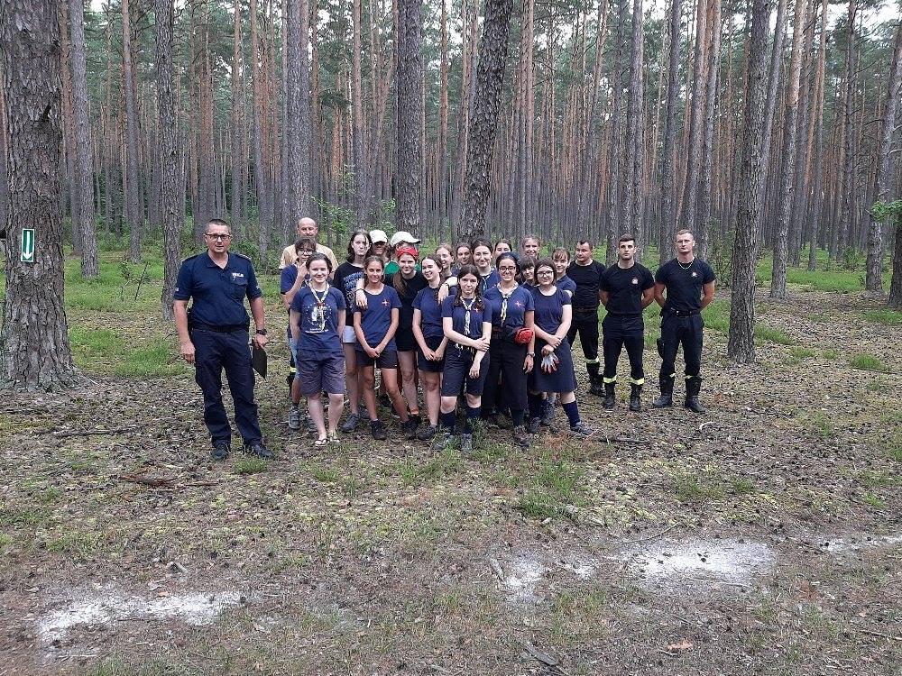 oboz 1 Zamojscy strażacy wizytowali obóz harcerski