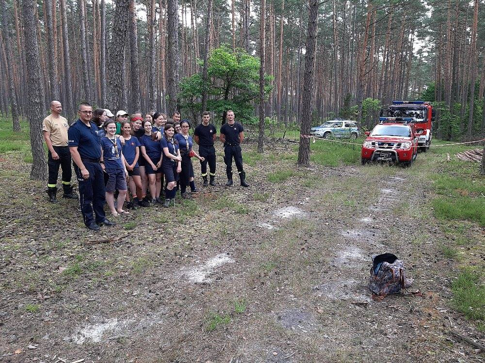 oboz 2 Zamojscy strażacy wizytowali obóz harcerski