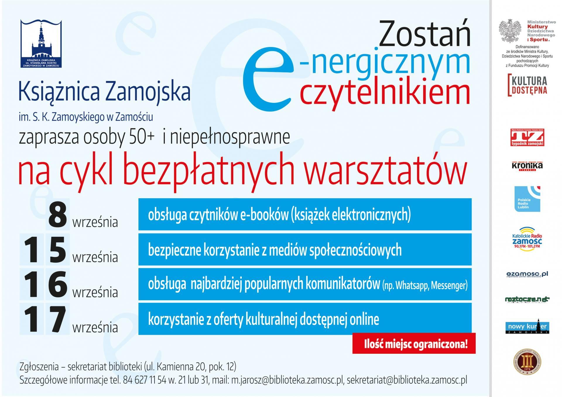 plakat 2 Warsztaty dla e-nergicznych czytelników
