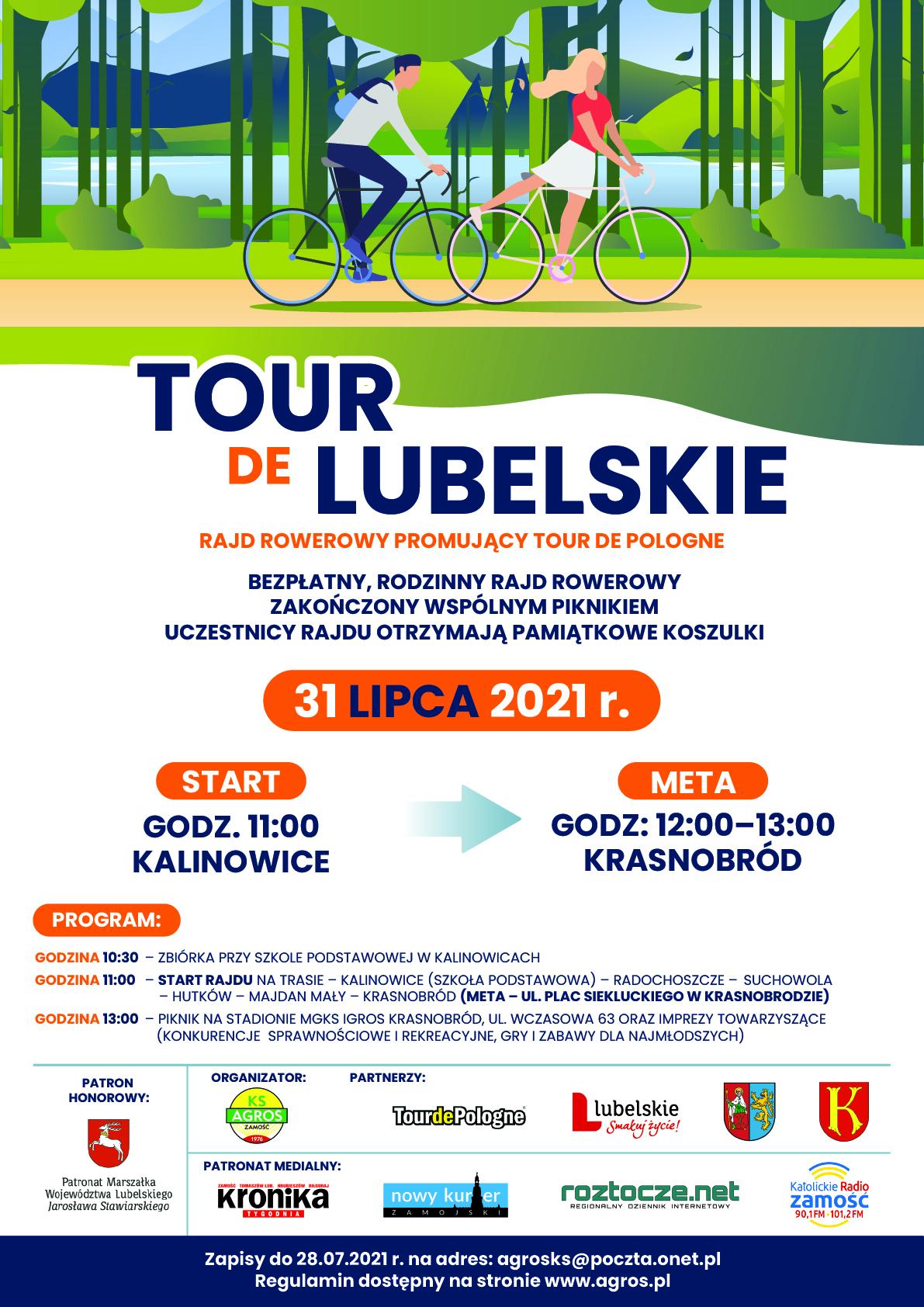"plakat tour de lubelskie1 1 Zaproszeniena Rajd rowerowy ""Tour de Lubelskie"""