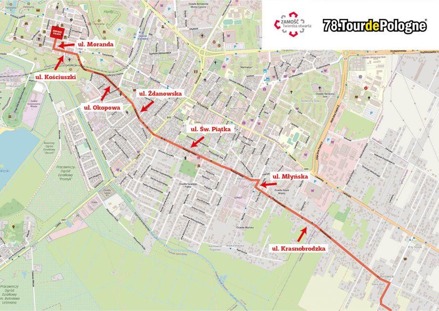 12576b Tour de Pologne w Zamościu. Będą spore utrudnienia w ruchu!