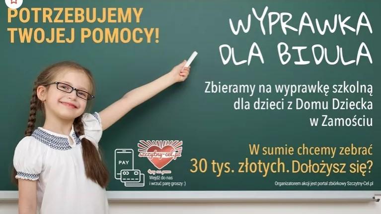 6540b Wyprawka dla Bidula. Zbiórka dla Domu Dziecka w Zamościu.