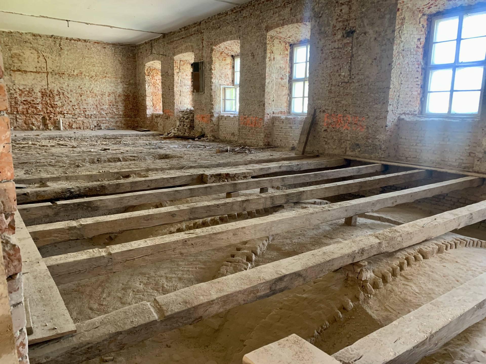 img 1815 ZAMOŚĆ: Wznowiono roboty budowlane i prace konserwatorskie w obiekcie Akademii Zamojskiej [ZDJĘCIA]
