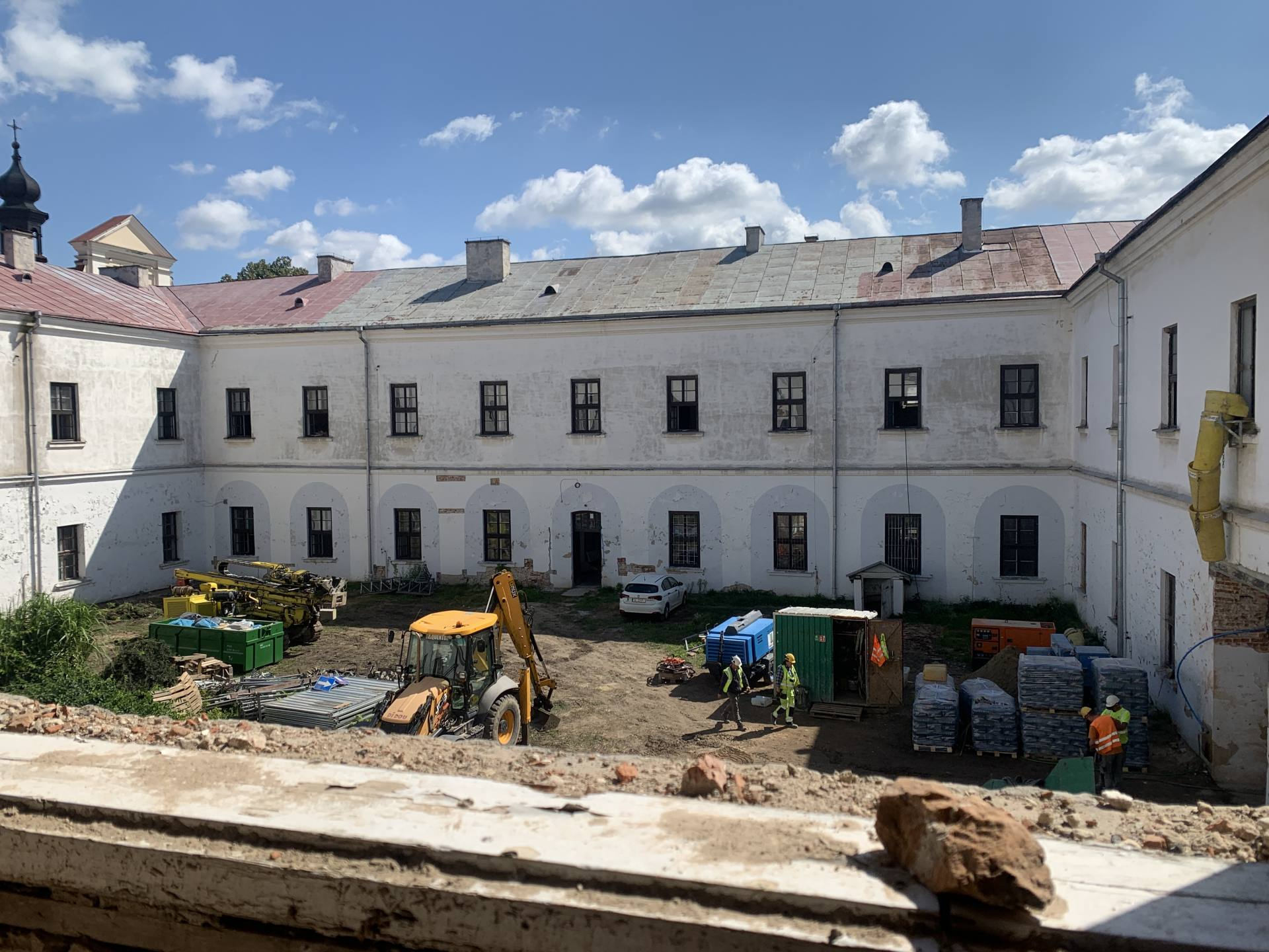 img 1816 ZAMOŚĆ: Wznowiono roboty budowlane i prace konserwatorskie w obiekcie Akademii Zamojskiej [ZDJĘCIA]